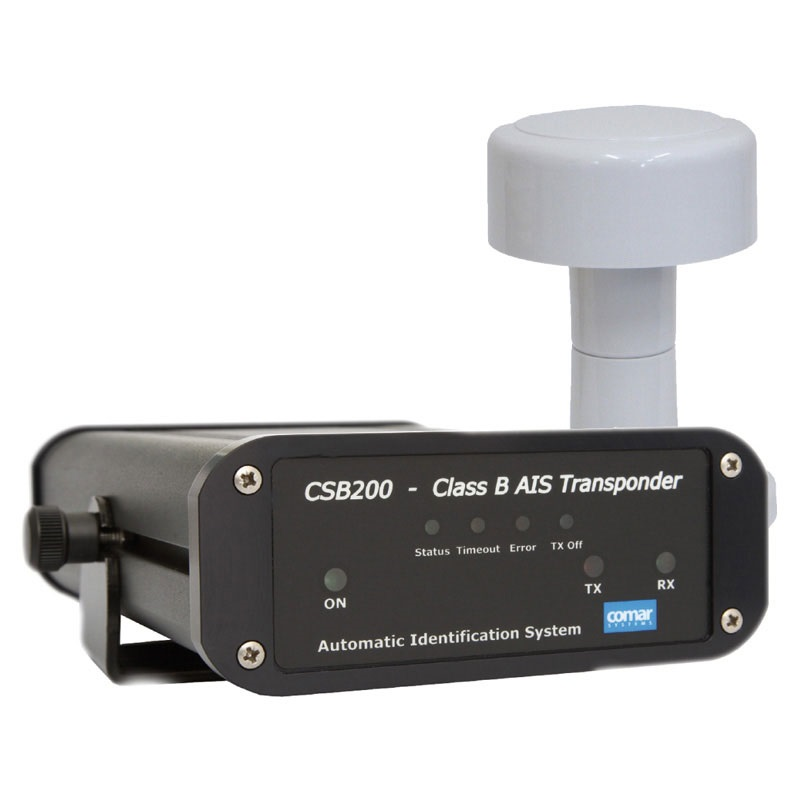 Comar CSB 200 AIS Transponder Class B c/w AG 100 Antenna GPS with Pole  Mount & 10m Cable